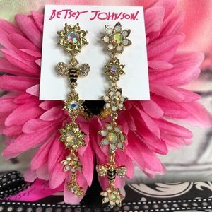 Betsey Johnson Bee Mine Linear Mismatch Earrings